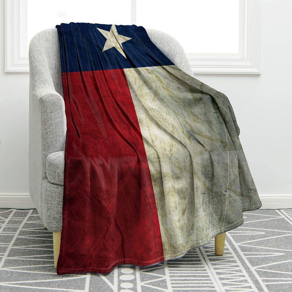 buy texas flag throw blanket