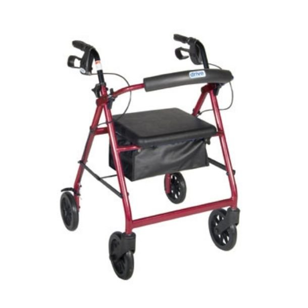 Backrest and Seat on a Curved four & Six wheel Rollator