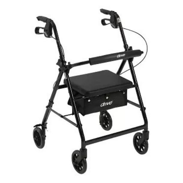 Curved Backrest and Seat on a Rollator