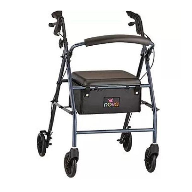 Nova Ortho-Steel Med four & Six wheel Rolling Walker