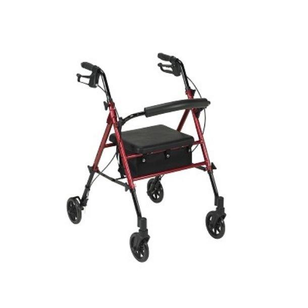The wheels on a six-wheel walker